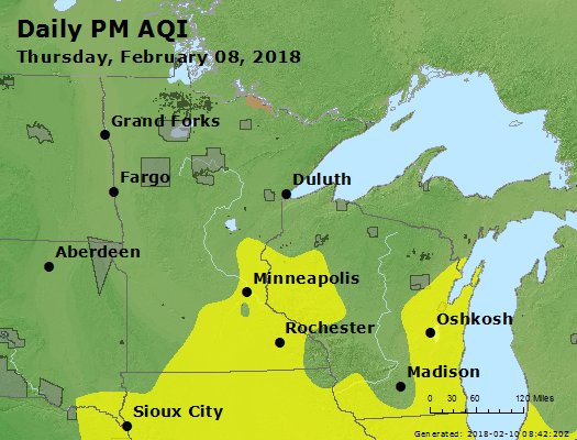 Peak Particles PM2.5 (24-hour) - https://files.airnowtech.org/airnow/2018/20180208/peak_pm25_mn_wi.jpg