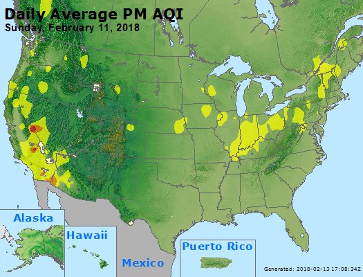 Peak Particles PM2.5 (24-hour) - https://files.airnowtech.org/airnow/2018/20180211/peak_pm25_usa.jpg