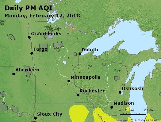 Peak Particles PM2.5 (24-hour) - https://files.airnowtech.org/airnow/2018/20180212/peak_pm25_mn_wi.jpg