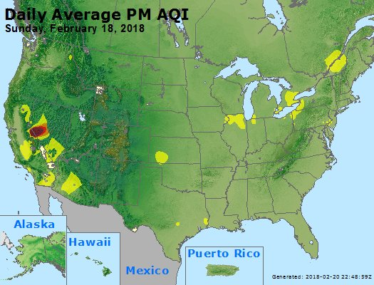 Peak Particles PM2.5 (24-hour) - https://files.airnowtech.org/airnow/2018/20180218/peak_pm25_usa.jpg