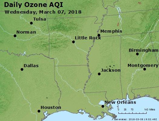 Peak Ozone (8-hour) - https://files.airnowtech.org/airnow/2018/20180307/peak_o3_ar_la_ms.jpg