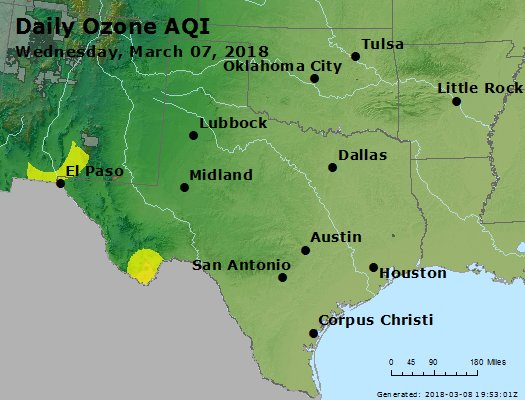 Peak Ozone (8-hour) - https://files.airnowtech.org/airnow/2018/20180307/peak_o3_tx_ok.jpg