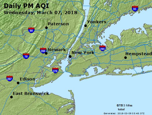 Peak Particles PM2.5 (24-hour) - https://files.airnowtech.org/airnow/2018/20180307/peak_pm25_newyork_ny.jpg