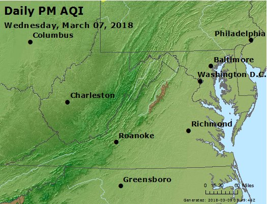 Peak Particles PM2.5 (24-hour) - https://files.airnowtech.org/airnow/2018/20180307/peak_pm25_va_wv_md_de_dc.jpg