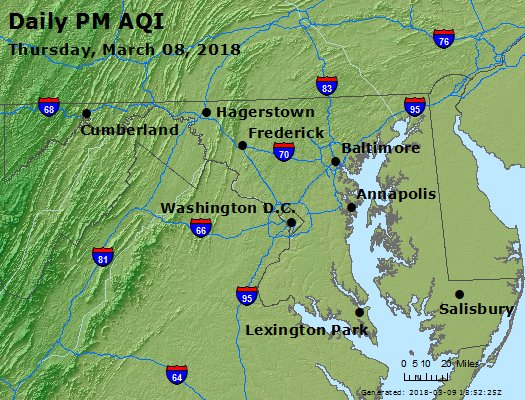 Peak Particles PM2.5 (24-hour) - https://files.airnowtech.org/airnow/2018/20180308/peak_pm25_maryland.jpg