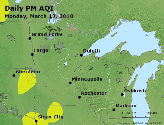 Peak Particles PM2.5 (24-hour) - https://files.airnowtech.org/airnow/2018/20180312/peak_pm25_mn_wi.jpg