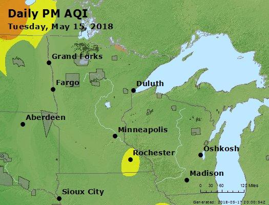 Peak Particles PM2.5 (24-hour) - https://files.airnowtech.org/airnow/2018/20180515/peak_pm25_mn_wi.jpg