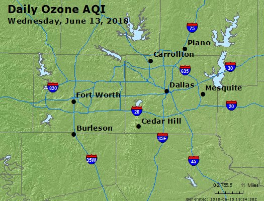 Peak Ozone (8-hour) - https://files.airnowtech.org/airnow/2018/20180613/peak_o3_dallas_tx.jpg