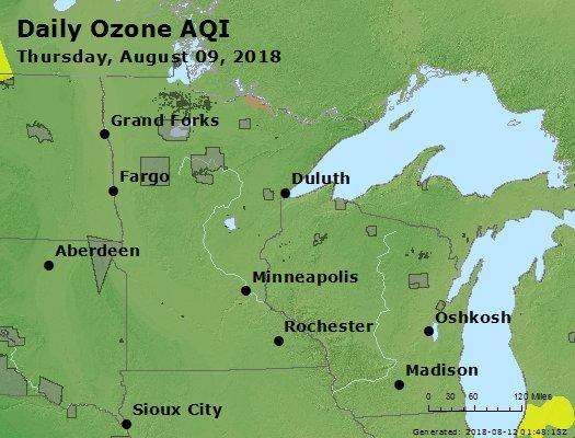 Peak Ozone (8-hour) - https://files.airnowtech.org/airnow/2018/20180809/peak_o3_mn_wi.jpg