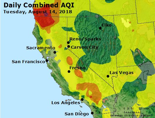 Los Reyes County Arizona Map.Airnow Point Reyes Ca Air Quality