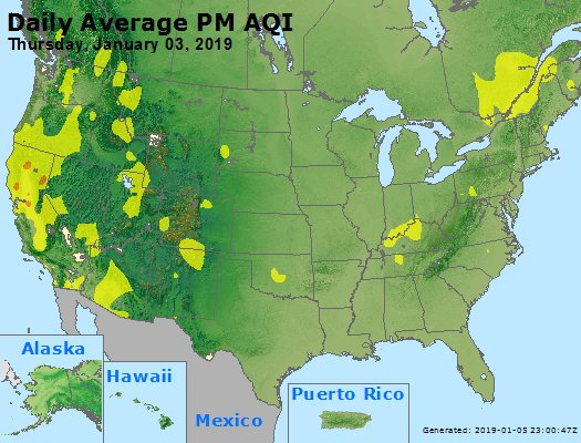 Peak Particles PM2.5 (24-hour) - https://files.airnowtech.org/airnow/2019/20190103/peak_pm25_usa.jpg