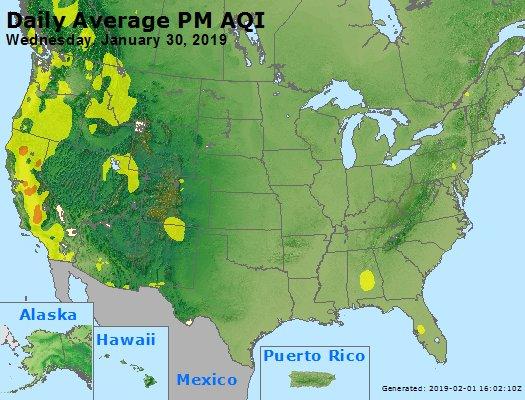 Peak Particles PM2.5 (24-hour) - https://files.airnowtech.org/airnow/2019/20190130/peak_pm25_usa.jpg