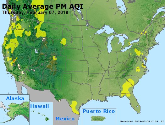 Peak Particles PM2.5 (24-hour) - https://files.airnowtech.org/airnow/2019/20190207/peak_pm25_usa.jpg