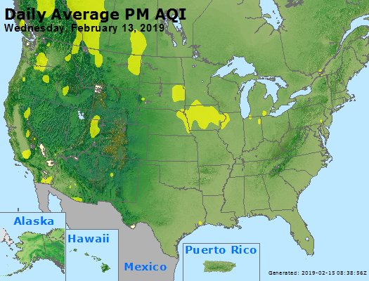 Peak Particles PM2.5 (24-hour) - https://files.airnowtech.org/airnow/2019/20190213/peak_pm25_usa.jpg