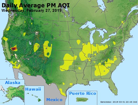 Peak Particles PM2.5 (24-hour) - https://files.airnowtech.org/airnow/2019/20190227/peak_pm25_usa.jpg