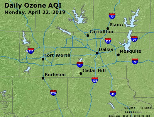 Peak Ozone (8-hour) - https://files.airnowtech.org/airnow/2019/20190422/peak_o3_dallas_tx.jpg