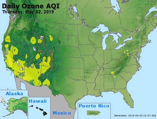 Peak Ozone (8-hour) - https://files.airnowtech.org/airnow/2019/20190502/peak_o3_usa.jpg
