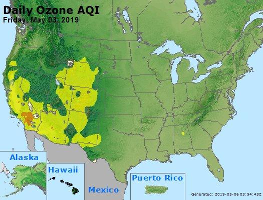 Peak Ozone (8-hour) - https://files.airnowtech.org/airnow/2019/20190503/peak_o3_usa.jpg