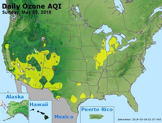 Peak Ozone (8-hour) - https://files.airnowtech.org/airnow/2019/20190505/peak_o3_usa.jpg