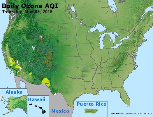 Peak Ozone (8-hour) - https://files.airnowtech.org/airnow/2019/20190509/peak_o3_usa.jpg