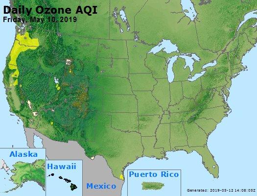 Peak Ozone (8-hour) - https://files.airnowtech.org/airnow/2019/20190510/peak_o3_usa.jpg