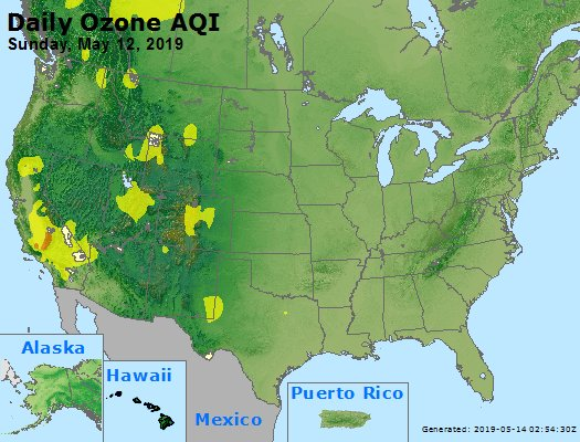 Peak Ozone (8-hour) - https://files.airnowtech.org/airnow/2019/20190512/peak_o3_usa.jpg