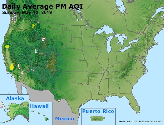 Peak Particles PM2.5 (24-hour) - https://files.airnowtech.org/airnow/2019/20190512/peak_pm25_usa.jpg