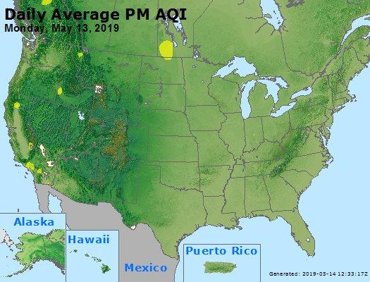 Peak Particles PM2.5 (24-hour) - https://files.airnowtech.org/airnow/2019/20190513/peak_pm25_usa.jpg