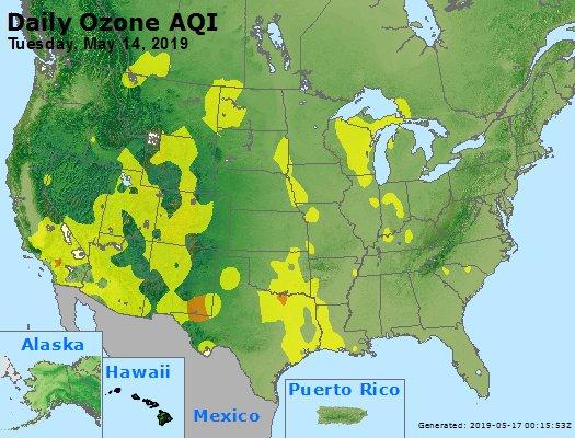 Peak Ozone (8-hour) - https://files.airnowtech.org/airnow/2019/20190514/peak_o3_usa.jpg