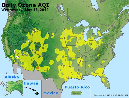 Peak Ozone (8-hour) - https://files.airnowtech.org/airnow/2019/20190515/peak_o3_usa.jpg