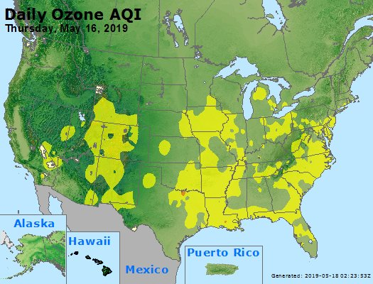 Peak Ozone (8-hour) - https://files.airnowtech.org/airnow/2019/20190516/peak_o3_usa.jpg