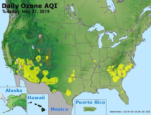 Peak Ozone (8-hour) - https://files.airnowtech.org/airnow/2019/20190521/peak_o3_usa.jpg