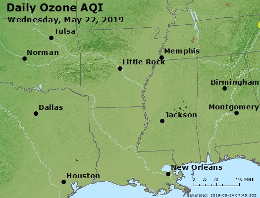 Peak Ozone (8-hour) - https://files.airnowtech.org/airnow/2019/20190522/peak_o3_ar_la_ms.jpg