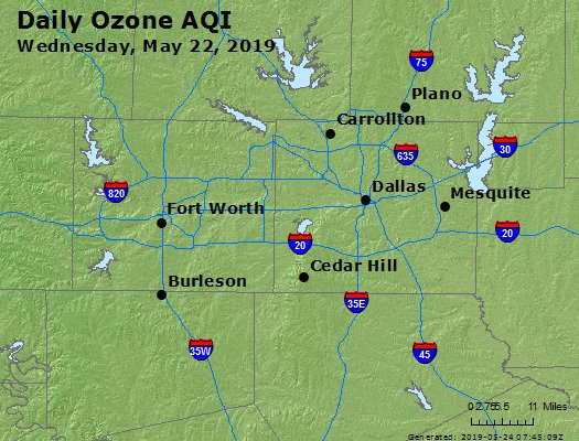Peak Ozone (8-hour) - https://files.airnowtech.org/airnow/2019/20190522/peak_o3_dallas_tx.jpg