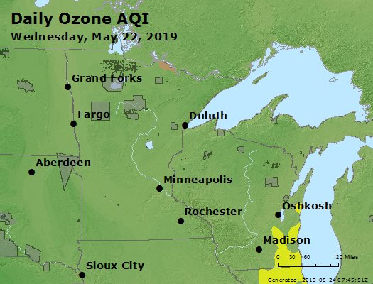 Peak Ozone (8-hour) - https://files.airnowtech.org/airnow/2019/20190522/peak_o3_mn_wi.jpg