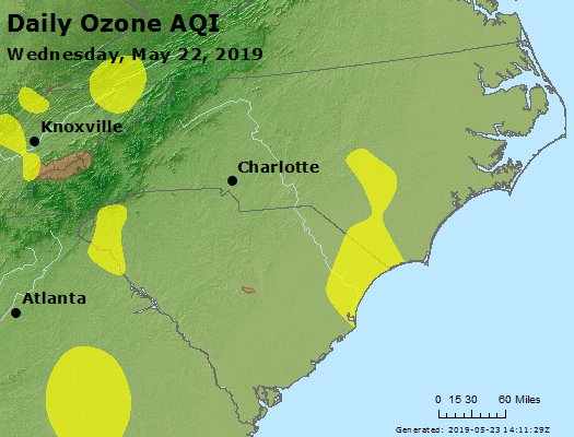 Peak Ozone (8-hour) - https://files.airnowtech.org/airnow/2019/20190522/peak_o3_nc_sc.jpg