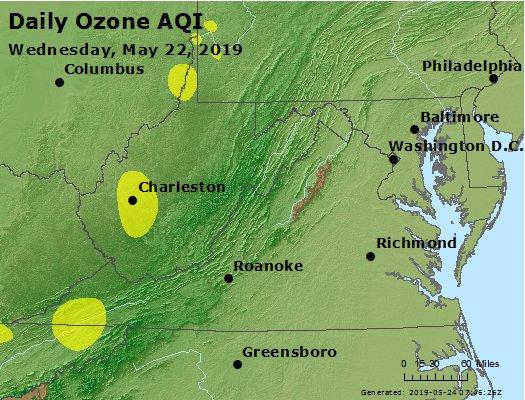 Peak Ozone (8-hour) - https://files.airnowtech.org/airnow/2019/20190522/peak_o3_va_wv_md_de_dc.jpg