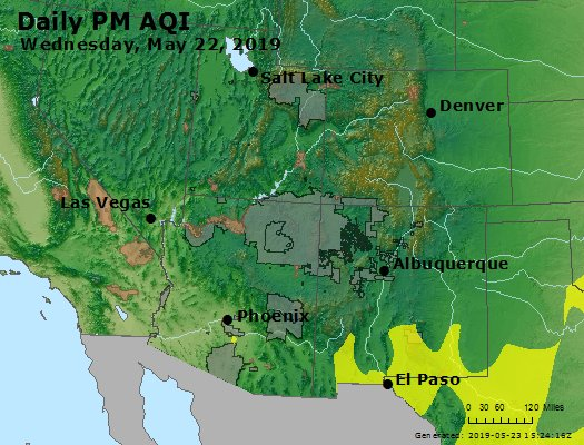 Peak Particles PM2.5 (24-hour) - https://files.airnowtech.org/airnow/2019/20190522/peak_pm25_co_ut_az_nm.jpg