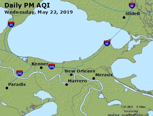 Peak Particles PM2.5 (24-hour) - https://files.airnowtech.org/airnow/2019/20190522/peak_pm25_neworleans_la.jpg