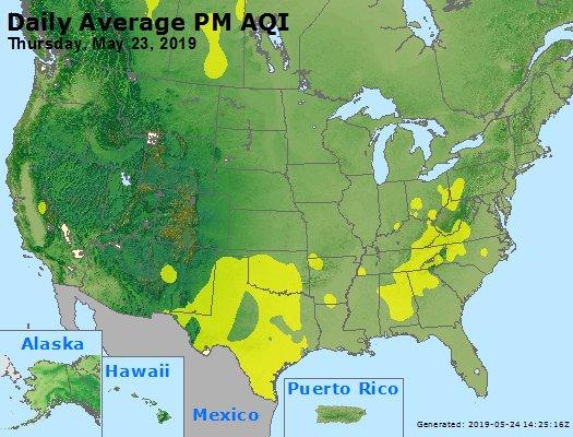 Peak Particles PM2.5 (24-hour) - https://files.airnowtech.org/airnow/2019/20190523/peak_pm25_usa.jpg
