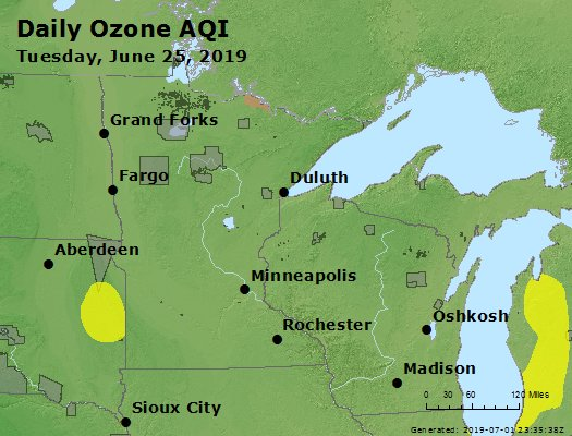 Peak Ozone (8-hour) - https://files.airnowtech.org/airnow/2019/20190625/peak_o3_mn_wi.jpg