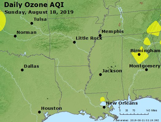 Peak Ozone (8-hour) - https://files.airnowtech.org/airnow/2019/20190818/peak_o3_ar_la_ms.jpg