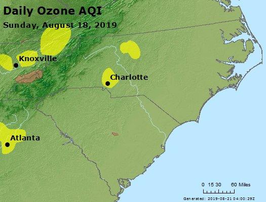 Peak Ozone (8-hour) - https://files.airnowtech.org/airnow/2019/20190818/peak_o3_nc_sc.jpg
