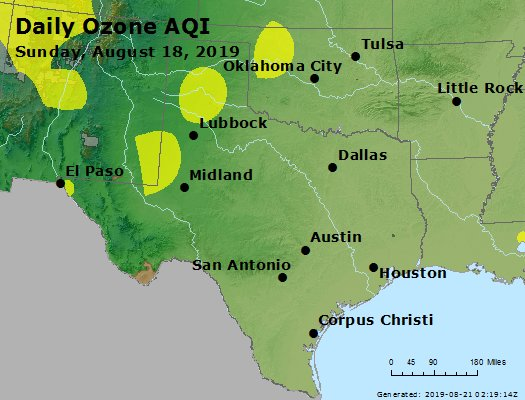 Peak Ozone (8-hour) - https://files.airnowtech.org/airnow/2019/20190818/peak_o3_tx_ok.jpg
