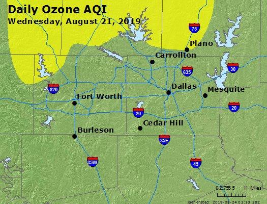Peak Ozone (8-hour) - https://files.airnowtech.org/airnow/2019/20190821/peak_o3_dallas_tx.jpg