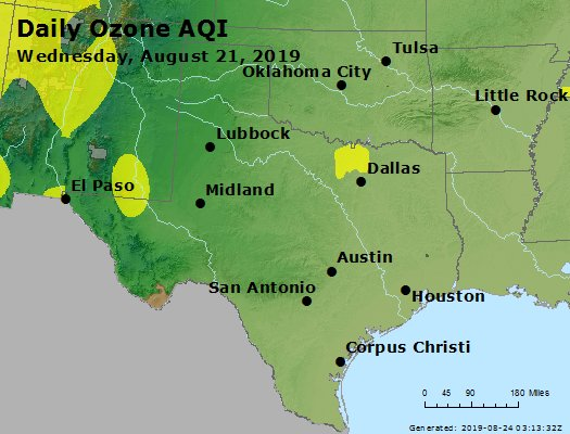 Peak Ozone (8-hour) - https://files.airnowtech.org/airnow/2019/20190821/peak_o3_tx_ok.jpg
