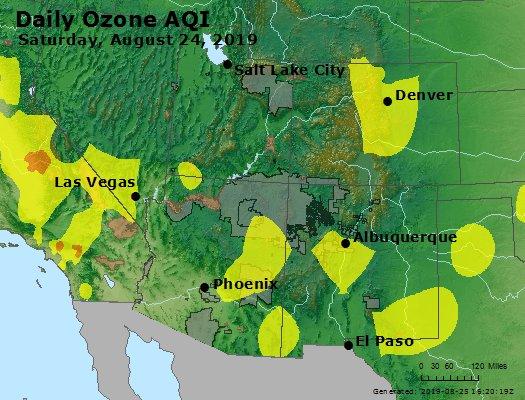Peak Ozone (8-hour) - https://files.airnowtech.org/airnow/2019/20190824/peak_o3_co_ut_az_nm.jpg