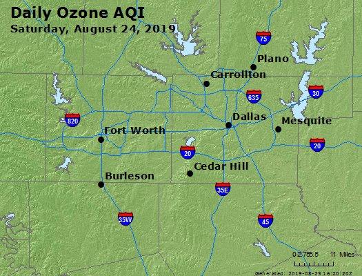 Peak Ozone (8-hour) - https://files.airnowtech.org/airnow/2019/20190824/peak_o3_dallas_tx.jpg