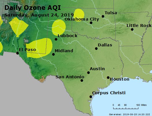 Peak Ozone (8-hour) - https://files.airnowtech.org/airnow/2019/20190824/peak_o3_tx_ok.jpg