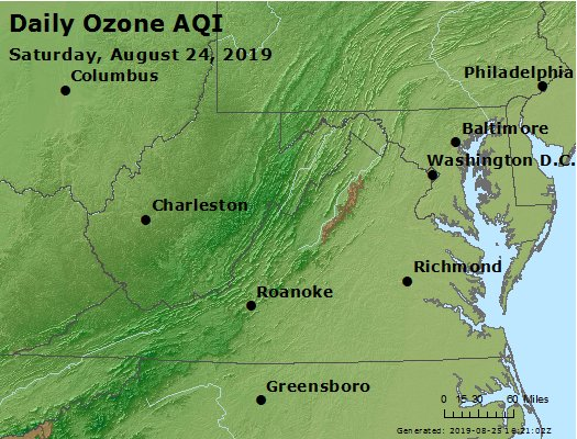 Peak Ozone (8-hour) - https://files.airnowtech.org/airnow/2019/20190824/peak_o3_va_wv_md_de_dc.jpg